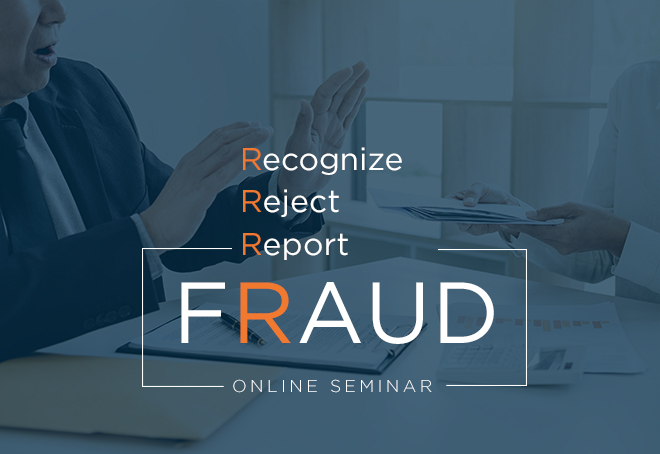 Take the seminar to avoid investment fraud